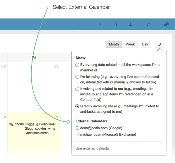 Using the Podio Calendar with other Calendars – Podio Help Centre