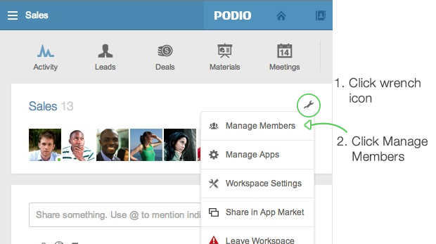 Member roles in workspaces – Podio Help Centre