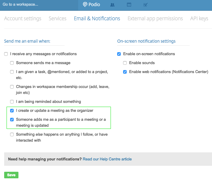 Important update to your email settings – Podio Help Centre